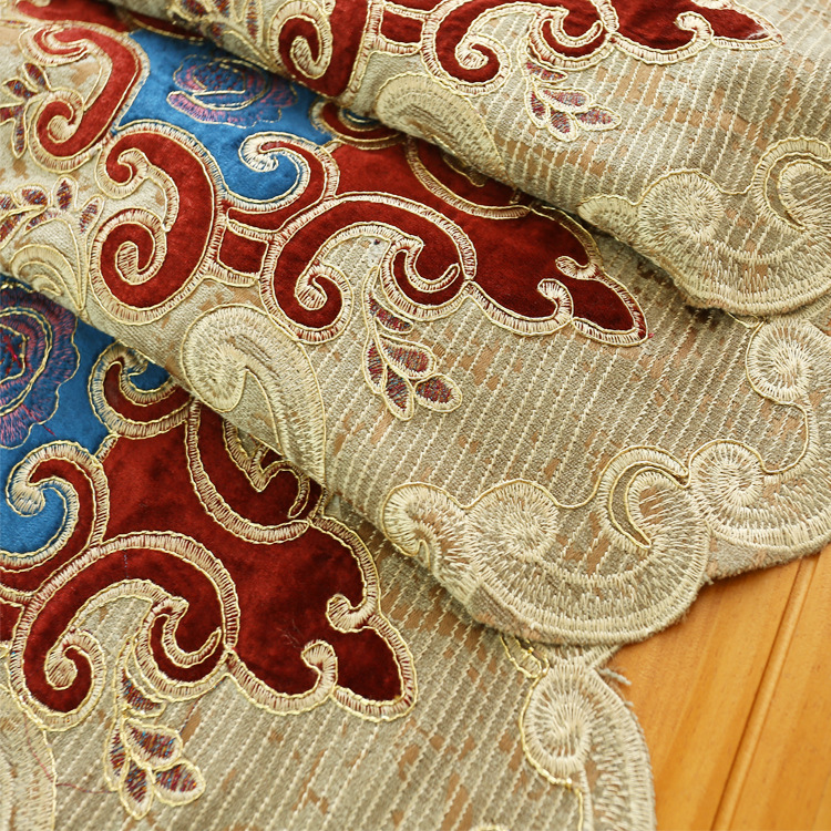 Image 4 - European style Upmarket chenille embroidered Pelmet Retro court  spun gold embroidery living room,valance,Additional purchaseCurtains