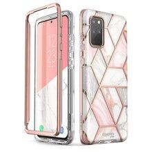 Do Samsung Galaxy S20 Plus 5G etui i blason Cosmo na całe ciało Glitter marmurowy pokrowiec na zderzak bez wbudowanego ochraniacza ekranu