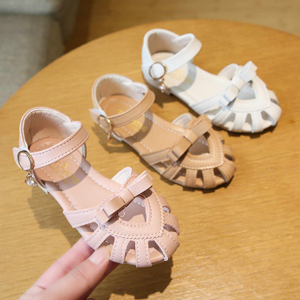 Kids Sandals Baby Girls Sandals Solid Casual Shoes Bowknot Toddler Girls Shoes Princess Summer Shoes 2020 Sandalias Zapatos Nina