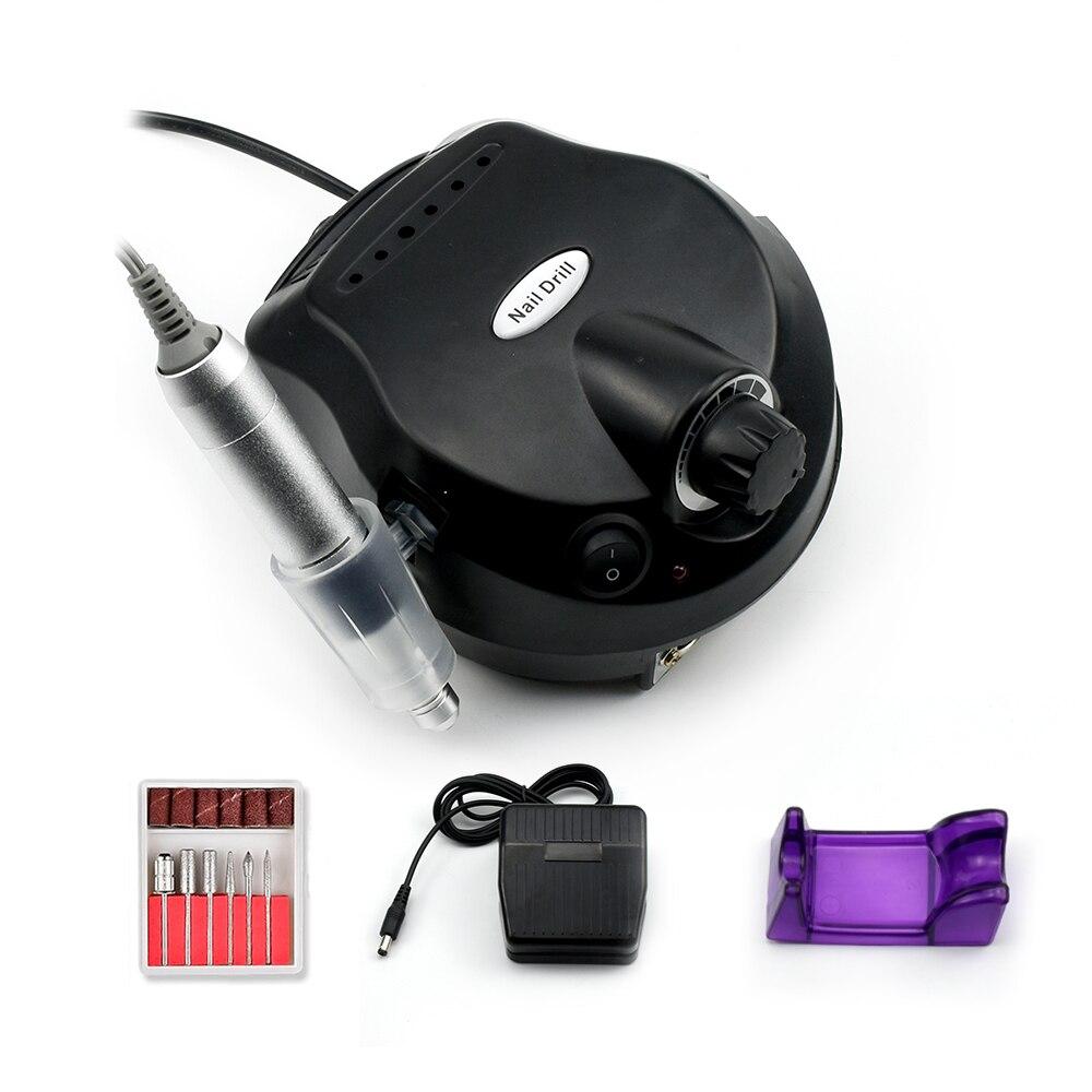 Pro 35000RPM Electric Nail Drill Machine Electric Manicure Machine Drills Accessory Pedicure Kit Nail Drill File Bit Nail Tools