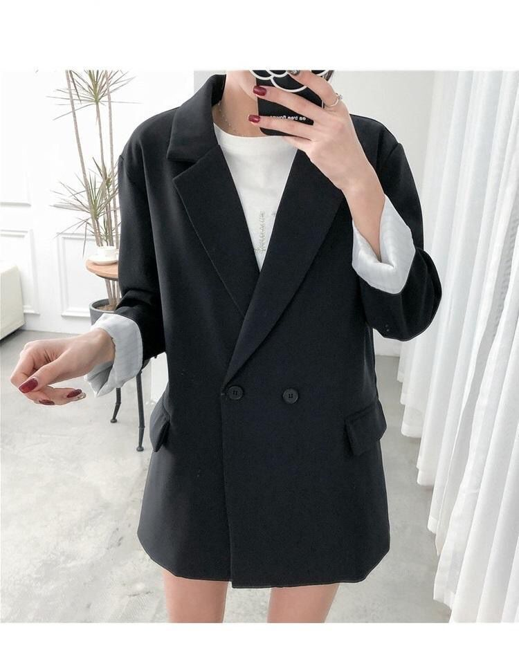 2020 new spring and autumn suit jacket female fashion casual web celebrity small suit British style career loose coat