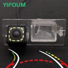 Yifoum hd trajetória dinâmica faixas de visão traseira do carro estacionamento câmera de backup para fiat freemont 500 2009-2014/dodge journey 2011-2016
