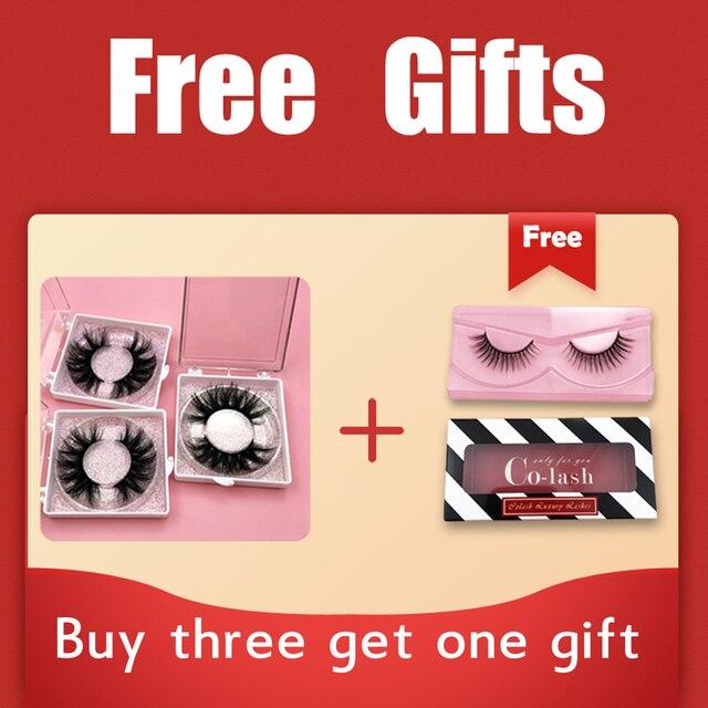 Colash Custom box Mink Eyelashes Thick Natural Long False Eyelashes High Volume Mink Lashes Soft Dramatic Eye lashes New Makeup 2