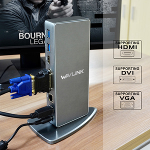 Image 3 - Full HD 2048X1152 Đa Năng USB 3.0 Đế Cắm + RJ45/DVI/HDMI/VGA/Mic/Cổng Âm Thanh DisplayLink Gigabit Ethernet Mạng Làm Việc