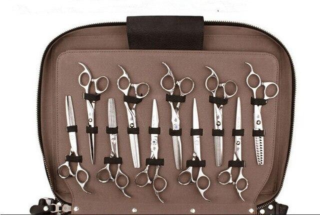 Peut mettre 60 pièces ciseaux Portable similicuir cheveux ciseaux sac insérer style ciseaux Case sac de rangement clins outils sac
