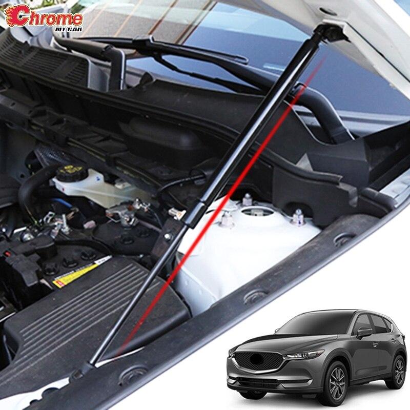Для Mazda CX 5 CX5 KF 2017 2018 2019 крышка двигателя автомобиля передний капот подъем поддержка гидравлический стержень, пружинный упор амортизатор-in Хромирование from Автомобили и мотоциклы on AliExpress