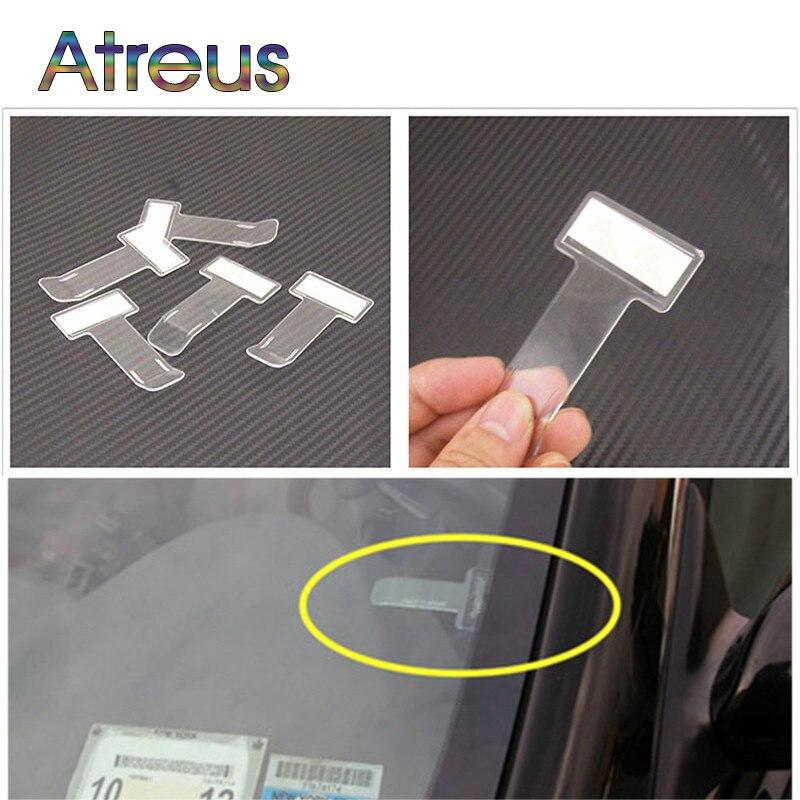 Auto Car Ticket Folder Mini T-shape Stickers For Mercedes Benz W203 W204 W211 CLA GLA W176 Skoda Octavia A5 A7 2 Rapid Fabia