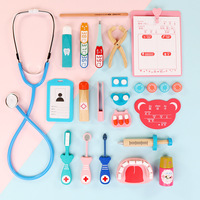 Pretend Play Emulational Toy Kit Doctor Echometer Set Education Toys for Children Developing Interest Wooden Doctor Toys