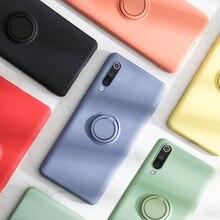 Luxury Soft Silicone Case For Xiaomi Mi 10 Pro 9 SE Mi9 9SE Metal Ring Holder Rubber Shockproof Silicon Cover Xiaomi Mi9 SE Case clear cover case for xiaomi mi 9 mi9 se 9se case air cushion soft silicone tpu bumper shockproof luxury shell