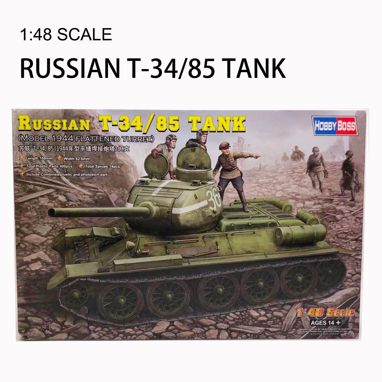 Trumpeter 1/48 Soviet T-34/85 Tank Plastic Assemble Model Toy