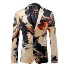 Blazer Men 2020New Fashion Trend Plus-size Printed Business Slim  Boutique