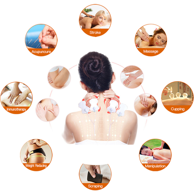 Neck Back Body Massage Electronic Pulse Simulator Device