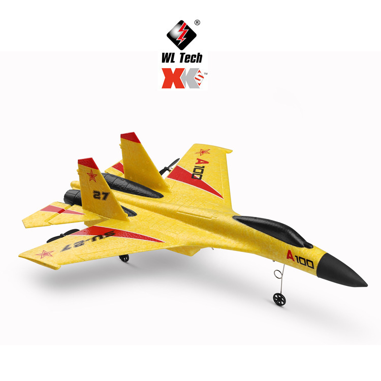 WLtoys XK A100 RC Flugzeug DIY Plane Ar Wing Glider Rc Airplane Su 27 J 11 2,4G 340mm 3CH Model Long Range RC image