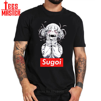New japanese anime Men's t-shirt Sugoi Himiko Boku No Hero Academia My Hero Artsy Awesome Modal Artwork Printed Tshirt Tees Tops image