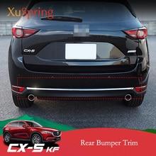 עבור מאזדה CX 5 CX5 2017 2018 2019 2020 KF רכב אחורי דלת תחתון כרום לקצץ זנב פגוש רצועות מדבקות כיסוי סטיילינג אבזרים