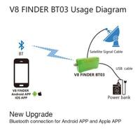 Gtmedia v8 finder bt03 localizador de satélite medidor lnb sinal digital DVB S2 tv satélite receber freesat v8 finder bt01|Receptor de TV via satélite| |  -