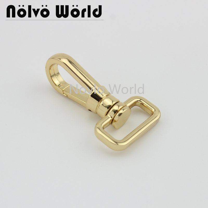 Wholesale 500pcs,2 Colors Accept Mix Color,47*20.5mm 3/4 Inch, Metal Snap Hook Handbag Lobster Buckle Swivel Clasp Hook Hardware