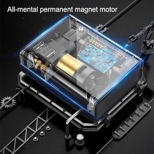 Image 3 - Baseus 12V sprężarka powietrza samochodowa inteligentny opona samochodowa pompa nadmuchiwana Mini przenośne elektryczne opona samochodowa Inflator kompresor