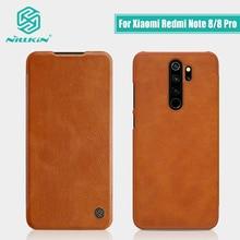 Redmi Note 8 case global versie NILLKIN Vintage Qin Flip Cover wallet PU leer PC back cover Voor Xiaomi Redmi note 8 Pro case