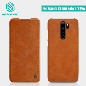Image 1 - Redmi Note 8 case global version NILLKIN Vintage Qin Flip Cover wallet PU leather PC back cover For Xiaomi Redmi Note 8 Pro case