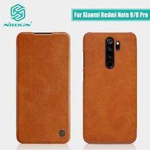 Redmi uwaga 8 przypadku wersja globalna NILLKIN Vintage Qin etui z klapką portfel PU skóra PC powrót etui na Xiaomi Redmi Note 8 pro przypadku