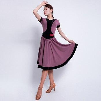 Latin Dance Dress For Women Sexy Tango Salsa Cha Cha Samba Rumba Performance Rave Outfit Ballroom Practice Dancing Wear DF1574