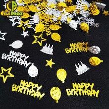 Confettis de fête d'anniversaire 15g, paillettes de Table pour Joyeux anniversaire, bricolage, fournitures de décoration pour Invitation de mariage et de noël
