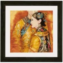 ゴールドコレクションシックなカウントクロスステッチキットアジアカップル Lan 0147587 中国男と女性の愛