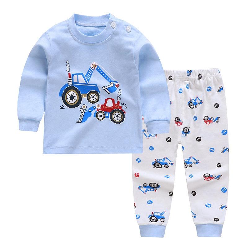 Kids Pajamas Sets Cotton Boys Sleepwear Suit 2pcs Spring Autumn Girls Pajamas Long Sleeve Pijamas Tops+Pants Children Clothing 4