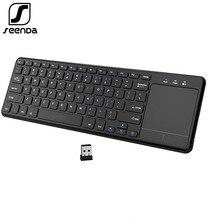 SeenDa 2.4G kablosuz klavye Touchpad numarası USB sayısal tuş takımı Android Windows Tablet için masaüstü dizüstü PC İngilizce/fransızca