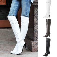 Women Boots Thin High Heel Over Knee Fashion Snow Long Boot Warm Winter Shoes Size 35-43 Winter Over The Knee Boots Long Shoes(China)
