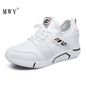 Image 2 - MWY/Женская обувь на плоской подошве; Zapatilla De Mujer; Повседневная обувь без шнуровки; Дышащие кроссовки на платформе; Женская обувь; Прогулочная обувь для женщин