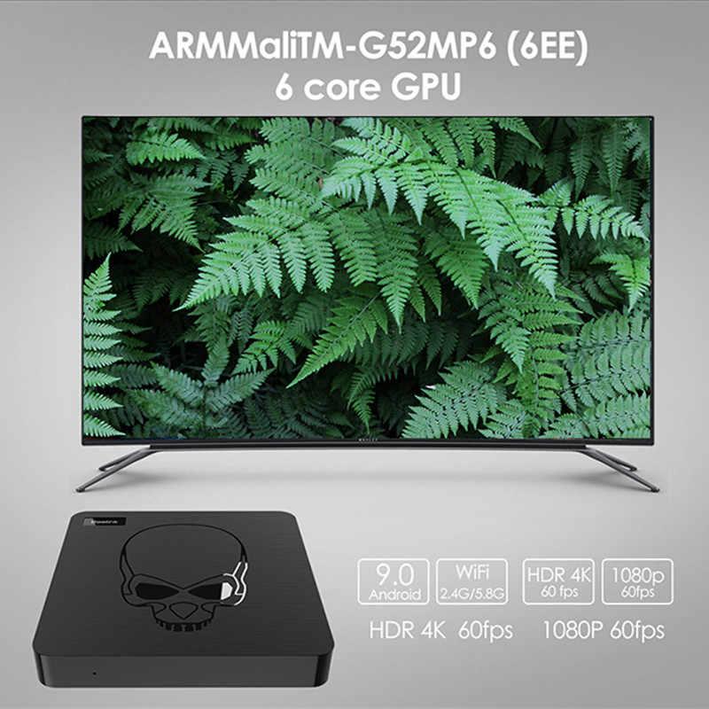 Beelink GT-rey Smart TV Box Amlogic S922X Android 9,0 4GB LPDDR4 64GB ROM soporte 2,4G Control remoto por voz con giroscopio 4K
