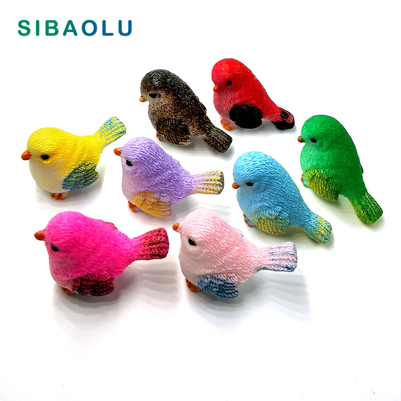 Статуэтка маленького попугая, птица, модель животного, Декор для дома, аксессуары «сделай сам», Современная Статуэтка