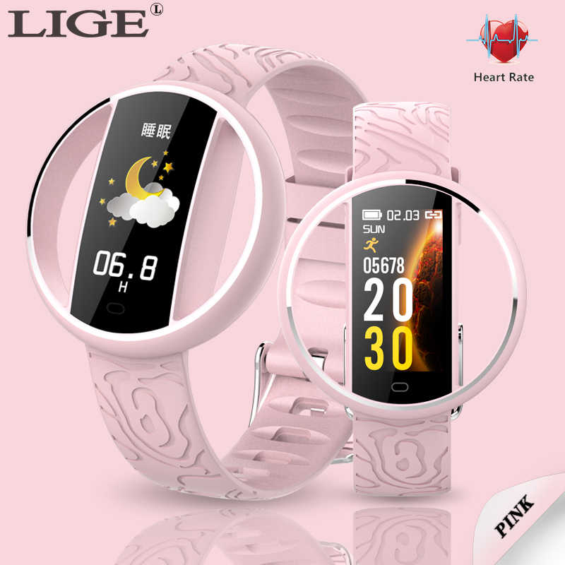 2019 New luxury Brand Female smart watch Heart rate health monitor blood pressure for Android IOS Fitness tracker Smart watch