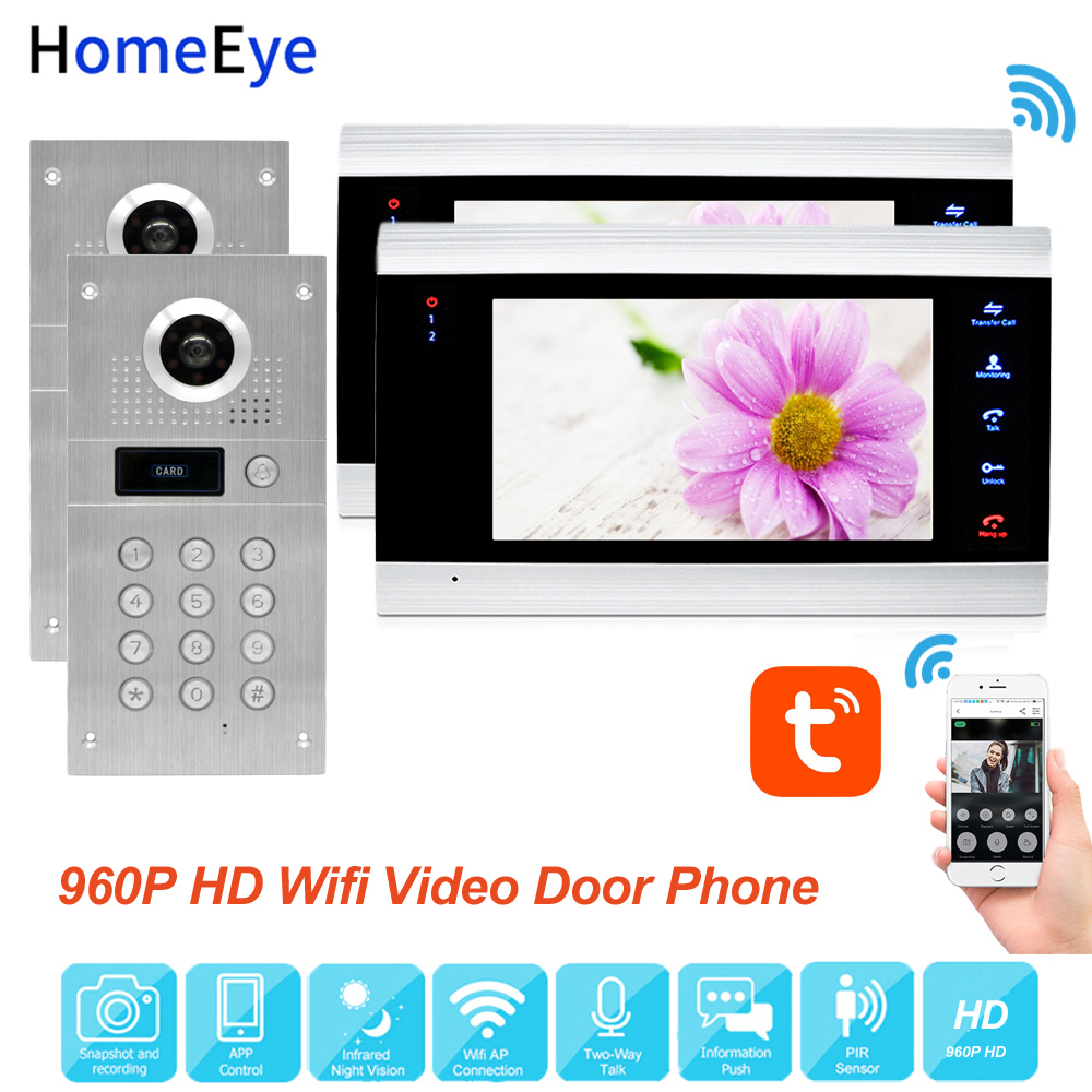 TuyaSmart App Remote Control WiFi IP Video Door Phone Video Intercom Access Control System Motion Detection Code Keypad RFID 2-2