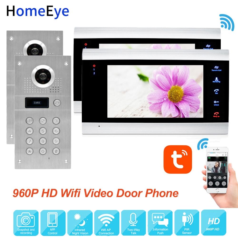 TuyaSmart App Remote Control WiFi IP Video Door Phone Video Intercom Access Control System Motion Detection Code Keypad RFID 2-2