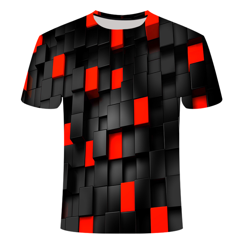 ALI shop ...  ... 32968946937 ... 5 ... 2019 Summer New Men's 3DT Shirt  Fashion T-Shirt Top Cool Plaid Diamond 3D Hip Hop T-Shirt  Brand Men's T-Shirt dropshipping ...