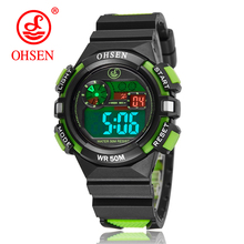 OHSEN Outdoor Kids Sports Watches 50M Waterproof Electronic Wristwatch Stop