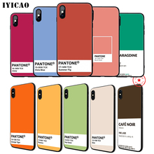 IYICAO Pantone Cute Art Soft Phone Case for iPhone 11 Pro XR X XS Max 6 6S 7 8 Plus 5 5S SE Silicone TPU 7 Plus iyicao airplane red space soft phone case for iphone 11 pro xr x xs max 6 6s 7 8 plus 5 5s se silicone tpu 7 plus