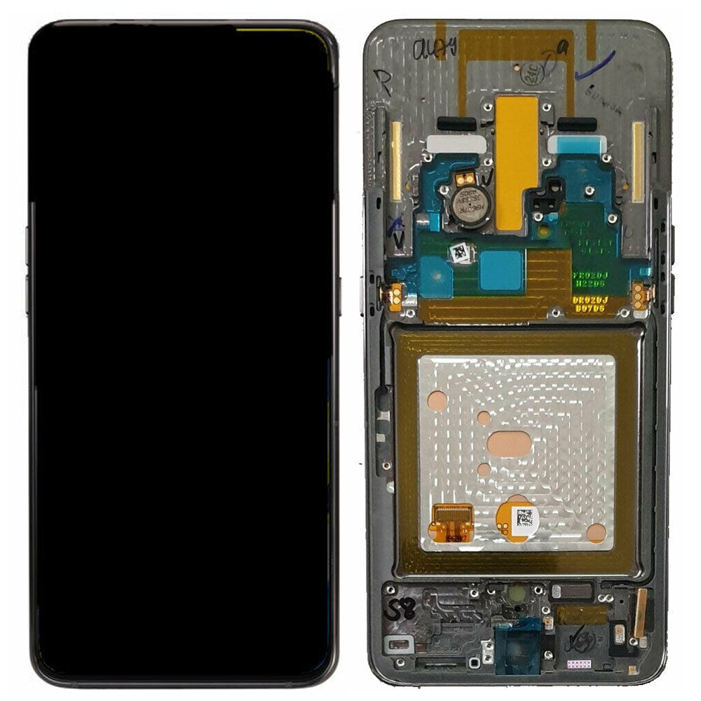 For <font><b>Samsung</b></font> <font><b>Galaxy</b></font> <font><b>A80</b></font> A805F <font><b>LCD</b></font> Display Touch Screen Digitizer Replacement With Frame Black Original image