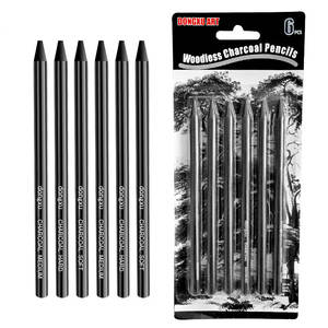Sketch-Pens for Drawing-Tool Art-Supplies Charcoal-Pencil-Set Professional Pure-Carbon