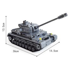 Image 5 - 1193 adet askeri serisi büyük Panzer tankı yapı taşları ordu şehir Enlighten tuğla oyuncaklar çocuklar için uyumlu Tank ile