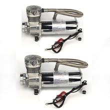 2 шт. Универсальный DC 12 В 480c MAXPOWER 200 PSI выход 3/8 или 1/4 Автомобильная пневматическая подвеска компрессора/насос