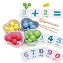Детская практика с использованием палочек для еды клип бобы 0,23 Математика обучающая игрушка детский сад ребенка раннего возраста развивающие игры