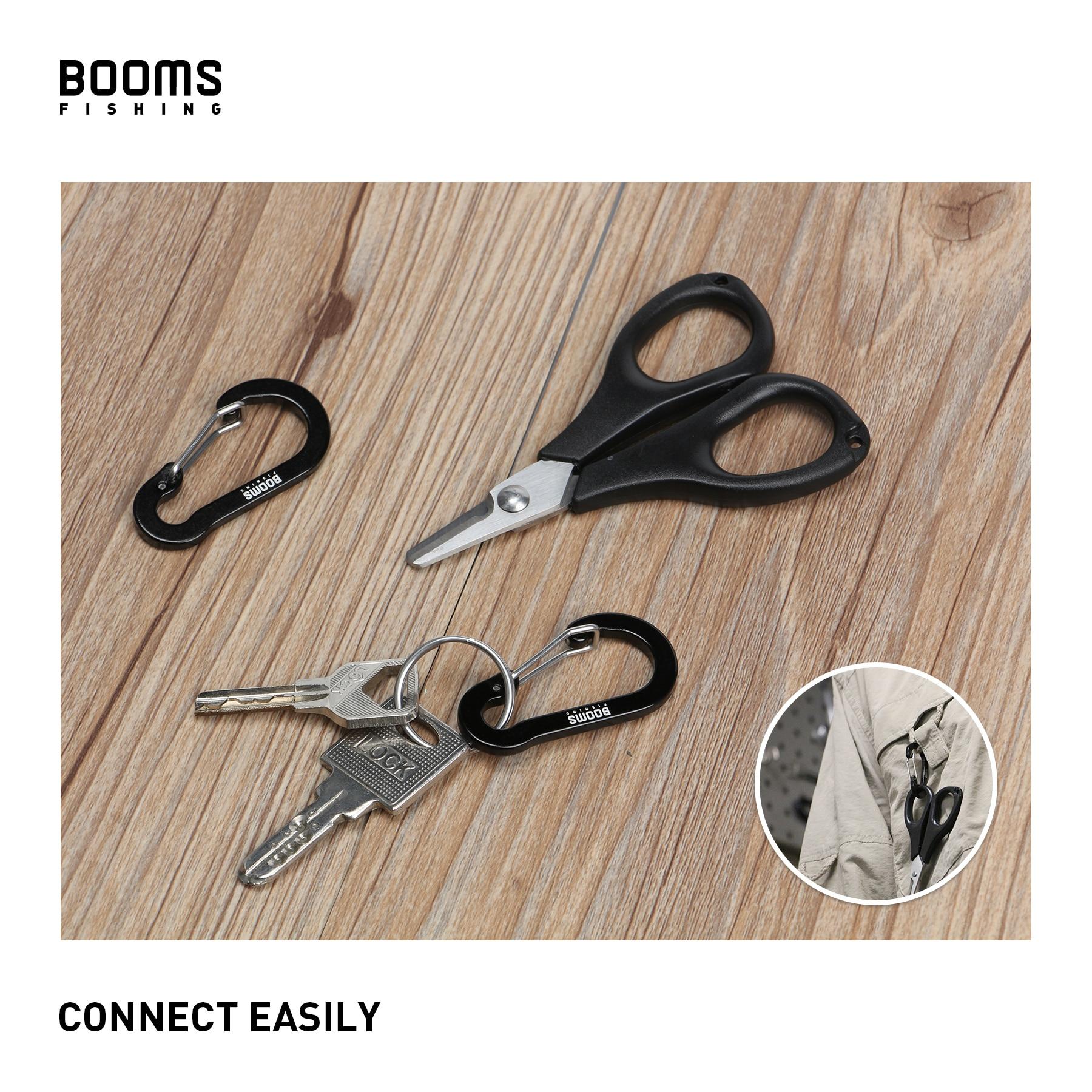Booms Fishing CC1 petits mousquetons en acier, Camping en plein air, multi-outils, accessoires de pêche, 6 pièces