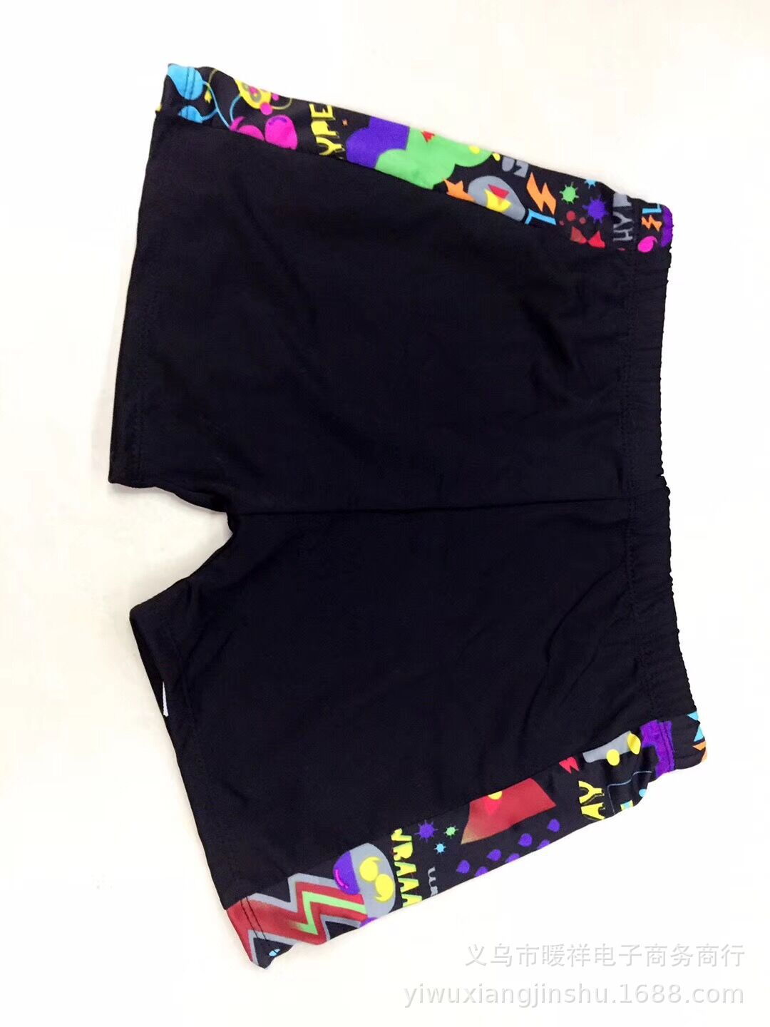 Pure Black Swimming Trunks Boxer Men Ultra-stretch Swimming Pool Hot Springs Plus-sized Adult Swimming Trunks Large Size Bathing