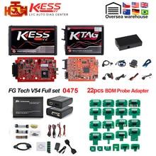 Pełna ECU programista Online V2.47 ue czerwony Kess V2 V5.017 + KTAG V7.020 2.25 + 0475 FGTECH Galletto 4 V54 + BDM rama narzędzie do strojenia chipów