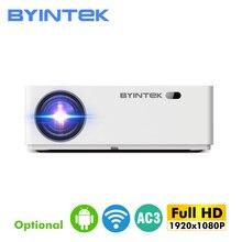 Byintk K20 كامل HD 1080P ثلاثية الأبعاد الذكية أندرويد واي فاي 300 بوصة المسرح المنزلي لعبة LED عارض فيديو Projektor متعاطي المخدرات للسينما 4K
