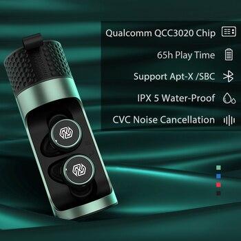 True Wireless Earbuds Nillkin Wireless earphone with Mic, CVC Noise Cancelling headphones Bluetooth 5.0 headset IPX5 Water Proof